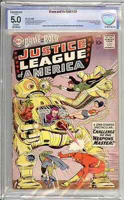 Brave & the Bold # 29  2nd appearance Justice League !   grade 5.0 scarce book !