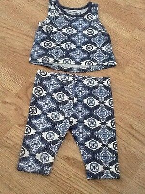 Baby Girls Size 9-12 Months Leggings And Sleeveless Top - Brand New With Tags