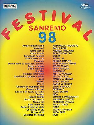 Festival San Remo 98, Songbook, 28 Hits, Musik und Texte