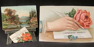 Osborne Bros & T J Tanton Boots & Shoes London Ontario 2 Victorian Trade Cards