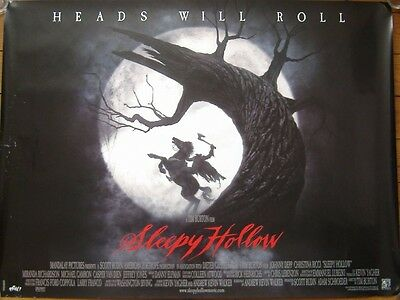 Sleepy Hollow (1999) ORIGINAL D/S ADV UK QUAD POSTER, Johnny Depp