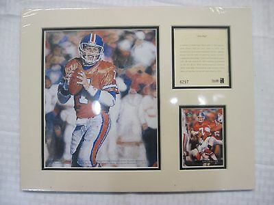 1994 John Elway Matted Kelly Russell Studios Lithograph Print Limited Edition