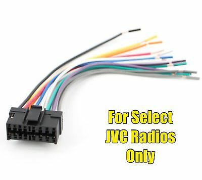 car stereo radio replacement wire harness plug for select jvc 16 car radio wire harness for jvc kd g120r kd g140 kd g200 kd