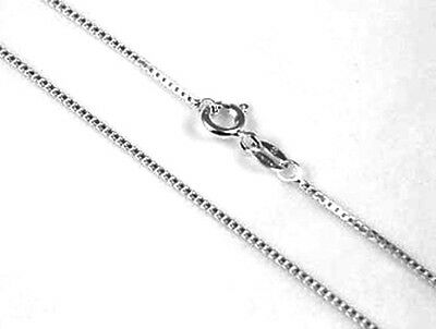 """1 Sterling Silver 925 Quality Heavy Box / Venetian Necklace Chain, 16"""", 41 Cm"""