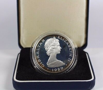1980 Gibraltar Elizabeth 80th Birthday One Crown Silver Proof
