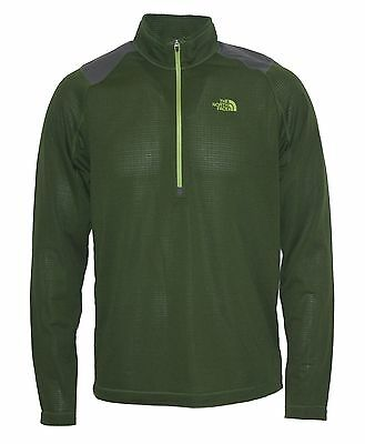 New The North Face Mens Lonetrack 1/2 Zip fleece pullover Green nwt