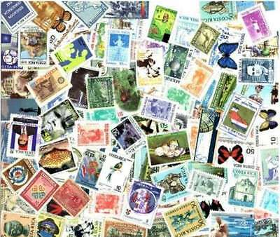 Costa Rica Stamp Collection - 100 Different Stamps