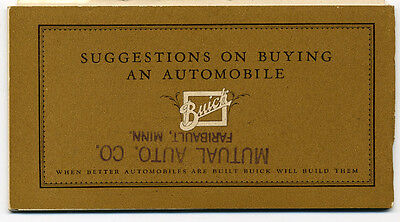 1925-1927 Illustrated Buick Automobile Catalog With 24 Models &  Prices