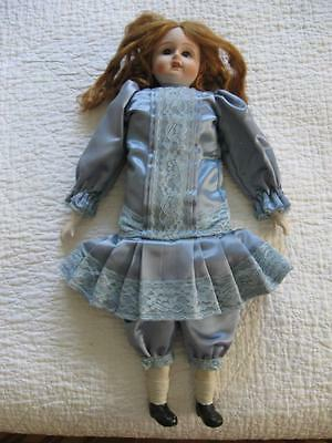 """Vintage Marked Seto Jukoya Bisque Cloth Body DOLL-19"""" Tall-Great Condition"""