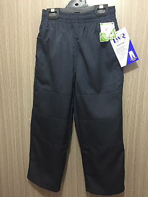 BNWT Boys Sz 6 LW Reid Brand Navy Blue Double Knee Elastic Waist School Pants