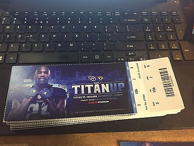 2016 Tennessee Titans Vs Jacksonville Jaguars Ticket Stub 10/27 Demarco Murray