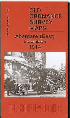 Highly Detailed Ordnance Survey Map, Aberdare (East) & Cwmbach 1914
