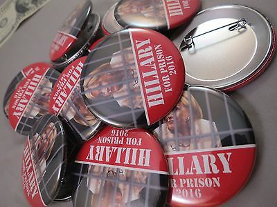 Wholesale Lot Of 12 Hillary Clinton For Prison 2016 Buttons 1 Trump President Us