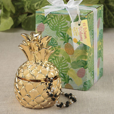 30 gold pineapple themed box bridal shower favor wedding favors warm welcome