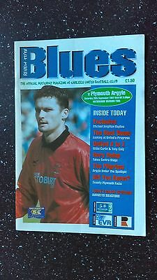 Carlisle United V Plymouth Argyle 1997-98