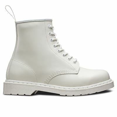 Dr.Martens 1460 8 Eyelets Mono Smooth White Mens Boots