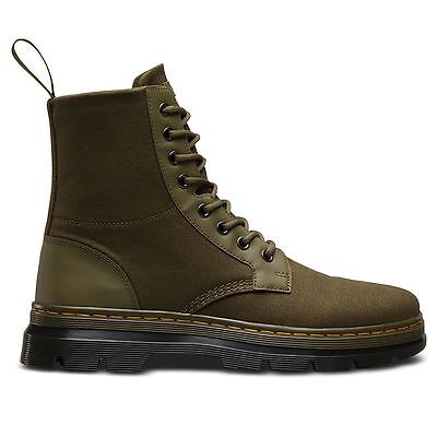 Dr.Martens Combs 8 Eyelet Waxy Grenade Green Mens Boots