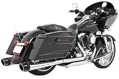 """Freedom Performance Exhaust Hd00411 4.5"""" Combat Slo Chr W/blk Tip"""