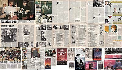 SIMPLY RED : CUTTINGS COLLECTION -interviews etc-