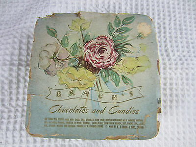 antique Brachs Chocolates and Candies empty cardboard box
