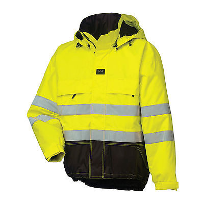 HELLY HANSEN Ludvika Parka Jacket Hi Vis EN471 Yellow/Charcoal RRP £120