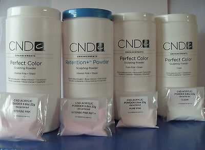 CND NAIL DESIGN  CREATIVE  ACRYLIC POWDER 22g PINK/WHITE/CLEAR decanted UK .