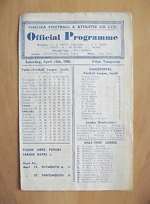 CHELSEA v FULHAM 1945/1946 *Good Condition Football Programme*