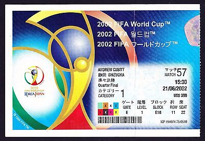 2002 World Cup BRAZIL v ENGLAND *Excellent Condition Ticket*