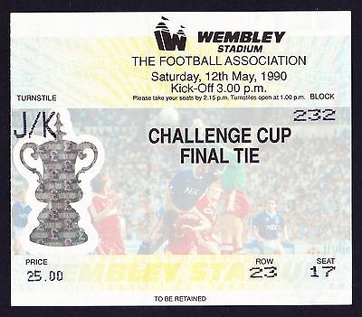 1990 FA Cup Final CRYSTAL PALACE v MANCHESTER UNITED *VG Condition Ticket*