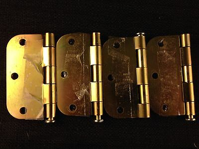 Large heavy metal 3-1/2 hinges with pins - Set of 4