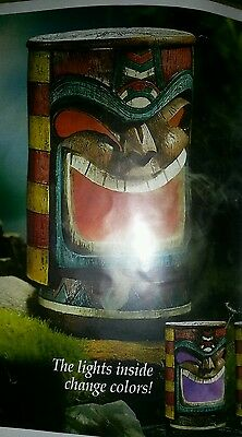 electrc lighted tiki mister changes color NEW 8'' 1/2 High and 5 inches wide