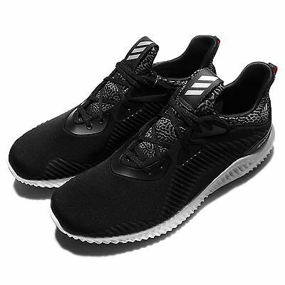 adidas AlphaBOUNCE M Forgedmesh Black Grey Mens Running Shoes Sneakers B42744