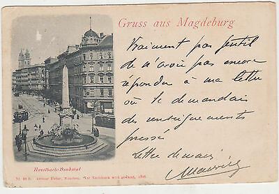 Gruss aus Magdeburg,Germany,Haselbach Denkmal,Trollies,Saxony-Anhalt,Used,1904