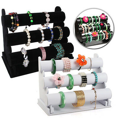 Bangle Gift 3 Tier Stand Jewelry Watch Display Bracelet Bar Holder Show New