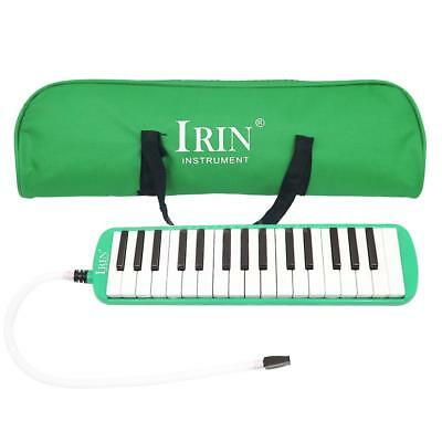 32 Piano Keys Melodica Musical Education Instrument for Beginner Green T0L5