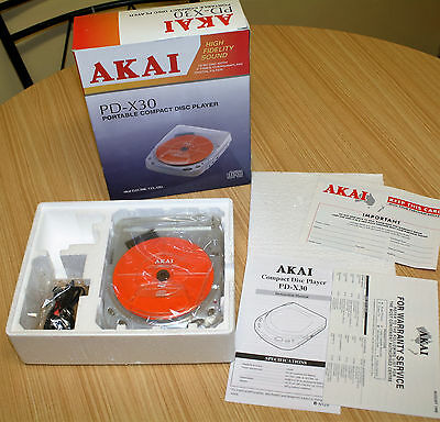 Akai Portable Compact Disc Player Discman PD-X30