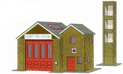 Superquick B36 Country Fire Station Oo Card Kit Suit Peco Hornby Etc