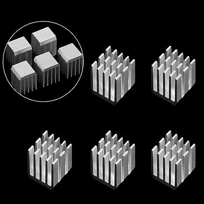 5Pcs 9x9x12MM Aluminum Cooling RAM Radiator Heatsink Cooler Chipset Heat Sink