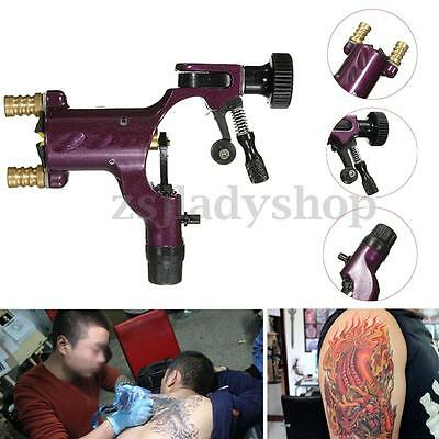 Purple Silent Rotary Motor Tattoo Dragonfly Machine Kit Set for Liner Shader