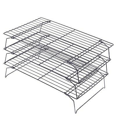 3 Tier Stackable Cake Stand Baking Cooling Rack Three Level Cooking Bake Tray