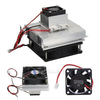 Thermoelectric Cooler Peltier Refrigeration Cooling System Kits Double Fan DIY