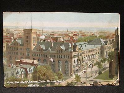 Montreal Canadian Pacific Railway Station Windsor St. 1908 W J Gage Postcard