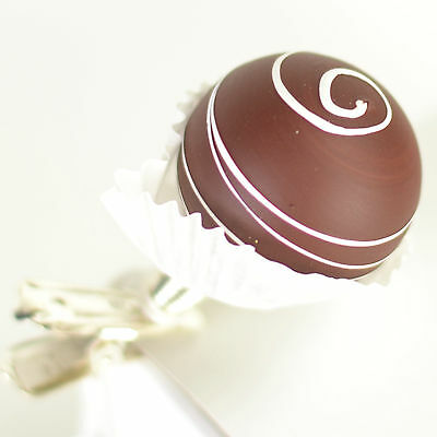 Chocolate Candy 1.5 Inch Glass Clip On Christmas Ornament Made Czech T02b