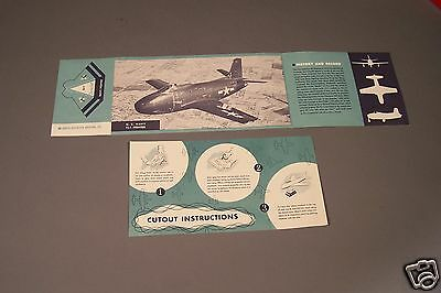 North American Aviation - US Navy FJ-1 Fury Jet - Cut out and Historical Info
