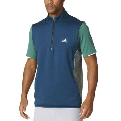 Adidas 2016 Mens Climaheat 1/2 Zip Windproof Pullover Sleeveless Fleece Vest