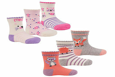 New 3 pairs lilac pink socks animal cat hedgehog - baby girl 0-24 months