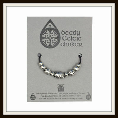 Celtic Oval Bead Beady Choker ~ From Black Dragon ~ Made In The Uk