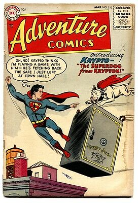 Adventure Comics #210 First Krypto The Super Dog DC Silver-Age issue comic book