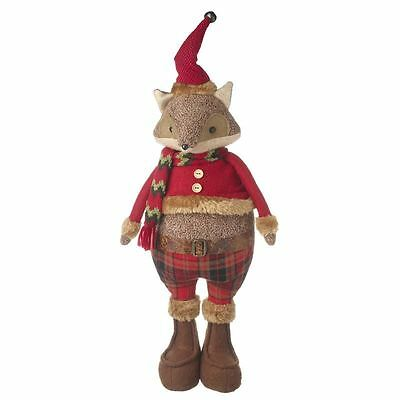 Standing Festive Red Fox Christmas Decoration