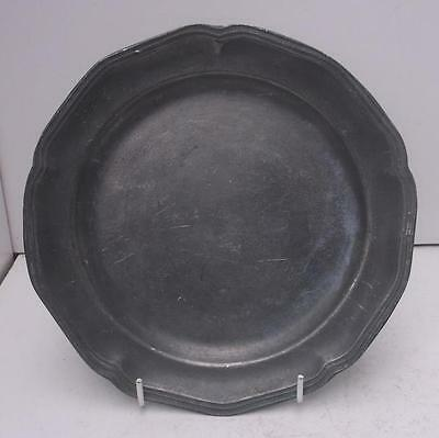Vintage French Pewter Dinner Plate #1